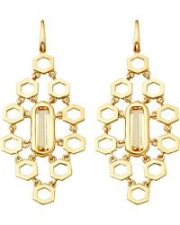 Astley Clarke | Metallic 18ct Gold Vermeil Honeycomb Earrings | Lyst