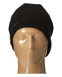 Calvin Klein | Black Diagonal Dashes Reversible Logo Beanie for Men | Lyst
