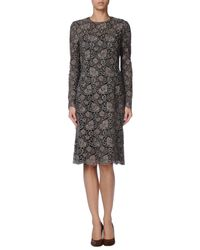 Valentino | Brown Knee-length Dress | Lyst