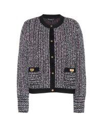 Ferragamo - Multicolor Tweed Wool-Blend Jacket - Lyst
