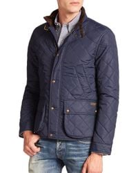 Polo Ralph Lauren | Blue Cadwell Quilted Bomber Jacket for Men | Lyst