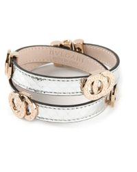BVLGARI | Metallic Double Wrap Logo Bracelet | Lyst