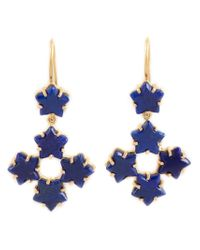 Marie-hélène De Taillac | Blue 22kt Gold Lapis Lazuli Star Drop Earrings | Lyst