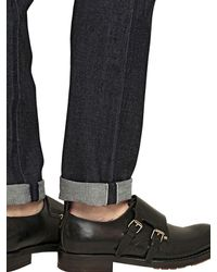 Valentino - Blue 18Cm Japanese Cotton Denim Jeans for Men - Lyst