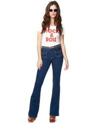 Nasty Gal - Blue Midnight Flare Jeans - Lyst