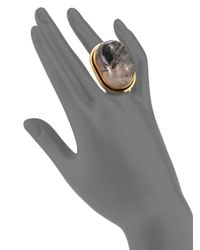 Saint Laurent | Gray Rutilated Quartz Cherry Ring | Lyst