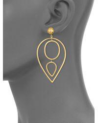 Vaubel - Metallic Teardrop Earrings - Lyst