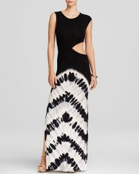 Young Fabulous & Broke - Black Hamptons Racerback Tie-dye Maxi Dress - Lyst