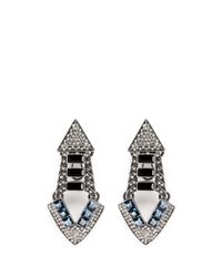 Lulu Frost - Metallic 'emergence' Crystal Pavé Gemstone Earrings - Lyst