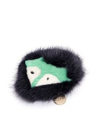 Yves Salomon | Black Fox Face Fur Pin Badge | Lyst