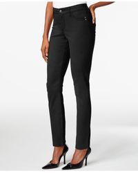 NYDJ | Black Petite Adalaine Ankle Skinny Jeans | Lyst
