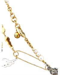 Lulu Frost - Metallic Kinship Pearl And Pin Necklace - Lyst