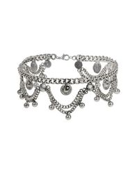 TOPSHOP - Metallic Drape Chain Choker - Lyst