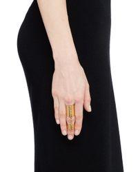 Ela Stone | Metallic 'alexander' Curb Chain Link Ring | Lyst