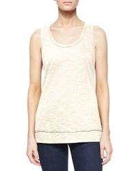 Pure Handknit | Natural Scoop-neck Cotton Tank | Lyst