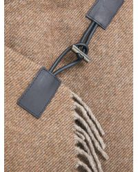 Violeta by Mango - Brown Fringe Wool-blend Coat - Lyst