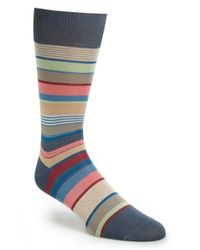 Paul Smith | Gray Stripe Socks for Men | Lyst