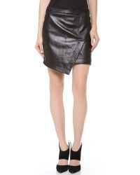 Tess Giberson | Black Leather Wrap Skirt | Lyst