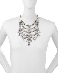 DANNIJO | Metallic Margaux Crystal Bib Necklace | Lyst