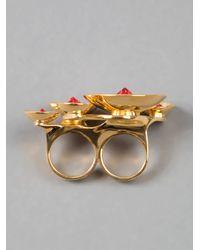 Atelier Swarovski - Red Double Ring - Lyst