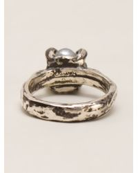 Henson | Metallic Claw Ring | Lyst