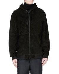 Alexander Wang | Black Lasered Lambskin Leather Zip Hoodie for Men | Lyst