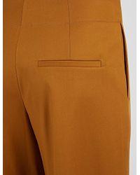 JOSEPH - Brown Stretch Cotton Compact Ika Trouser - Lyst