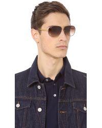 Ray-Ban - Metallic Lightweight Aviator Sunglasses for Men - Lyst