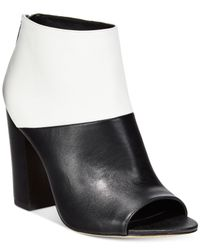 Circus by Sam Edelman | Black North Peep Toe Booties | Lyst