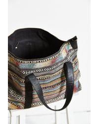 BDG - Brown Pattern Weekender Bag - Lyst