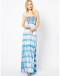 Sugarhill | Blue Printed Maxi Dress | Lyst
