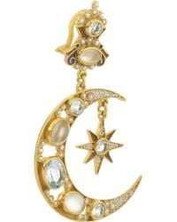 Percossi Papi - Blue Sun and Moon Goldplated Multistone Earrings - Lyst
