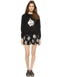 Carven - Black Patentleather Shorts - Lyst