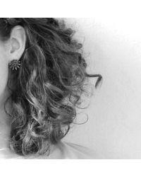 Mikinora | Metallic Spike Earrings Silver | Lyst