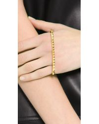 Fallon | Metallic Studded Palm Cuff Bracelet | Lyst