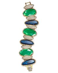 Ralph Lauren | Green Lauren Stone Bracelet | Lyst