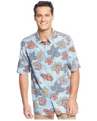 Tommy Bahama | Blue Floral-print Short-sleeve Shirt for Men | Lyst