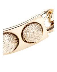 Balenciaga - Metallic Classic 3 Studs Bracelet - Lyst