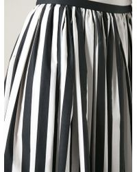 Dolce & Gabbana - Black Striped Midi Skirt - Lyst