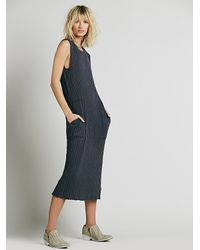 Free People | Blue Fp Beach Womens Simple Cool Column Maxi | Lyst