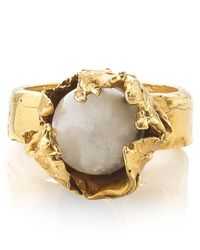 Alighieri | Metallic Gold Raw Pearl Ring | Lyst