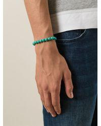 Fefe - Blue Stone Bead Bracelet for Men - Lyst