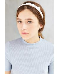 Urban Outfitters | White Leather Knot Headband | Lyst