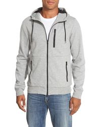 Bonobos | Gray Double Face Zip Hoodie for Men | Lyst
