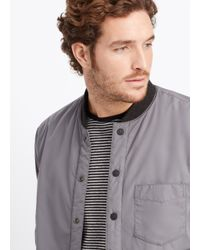 Vince | Black Lightly Filled Puffer Jacket for Men | Lyst