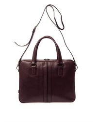 Tod's   Purple Grained-Leather Briefcase for Men   Lyst