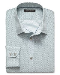 Banana Republic | Blue Tailored Slim-fit Non-iron Tri-print Shirt for Men | Lyst