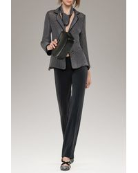 Armani | Gray Trousers In Wool Crêpe | Lyst