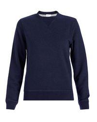 Sunspel - Blue Women's Loopback Cotton Sweatshirt - Lyst