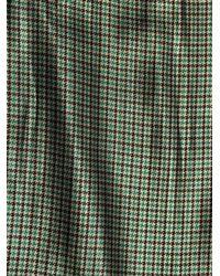 Marc Jacobs - Green Micro-plaid Silk-lamé Pencil Skirt - Lyst